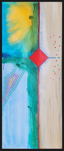 WWSt, Komposition mit Farbfeldern 4, Abstraktes, Colour Field Painting, Expressionismus