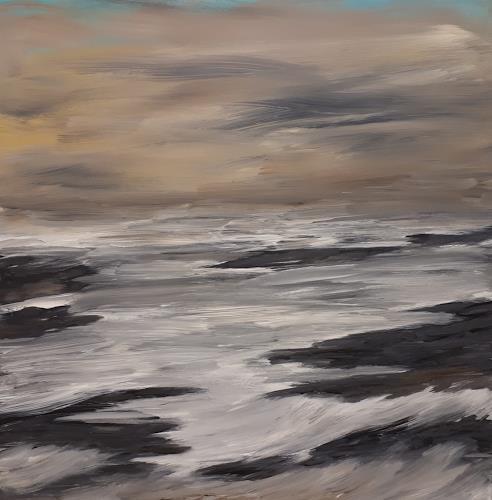 Ludwig Baumeister, Brandung, Landschaft: See/Meer, Abstrakte Kunst, Abstrakter Expressionismus