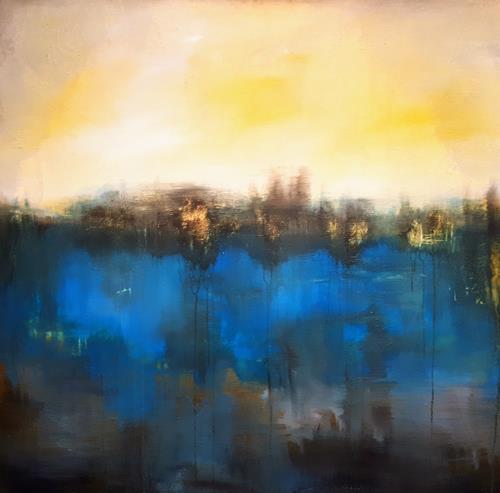 Ludwig Baumeister, Spiegelung, Landschaft, Abstrakte Kunst, Expressionismus