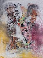 Ludwig-Baumeister-Menschen-Kinder-Moderne-Abstrakte-Kunst