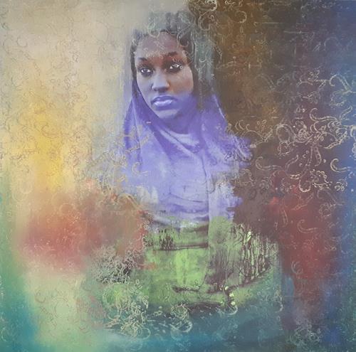 Ludwig Baumeister, schwarze Madona, Menschen: Frau, Abstrakte Kunst
