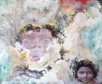 Ludwig-Baumeister-Menschen-Gesichter-Moderne-Abstrakte-Kunst-Radikale-Malerei