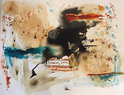 Nina Jankovic, it's all secretly perfect, Abstraktes, Abstrakte Kunst, Abstrakter Expressionismus
