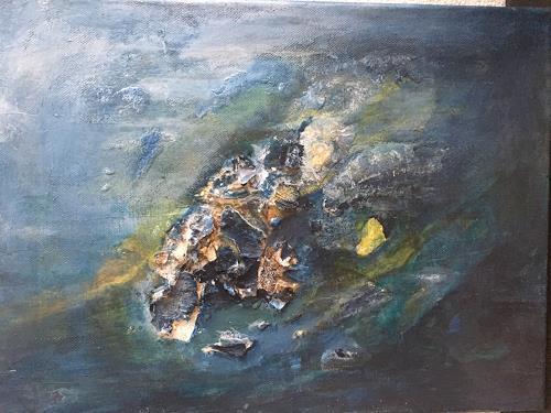 Olga Knoblauch, Kraft der Natur, Abstraktes, Action Painting