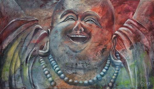 Claudia Beck, Happy Buddha, Glauben, expressiver Realismus