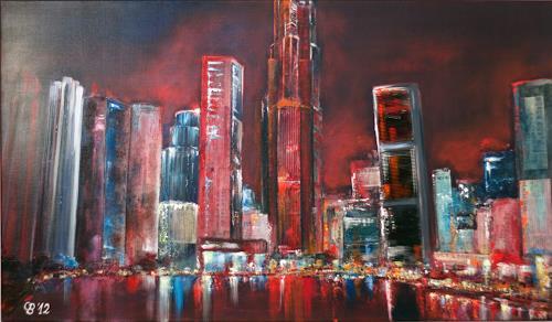 Claudia Beck, Singapur Skyline, Bauten: Hochhaus, Abstrakte Kunst