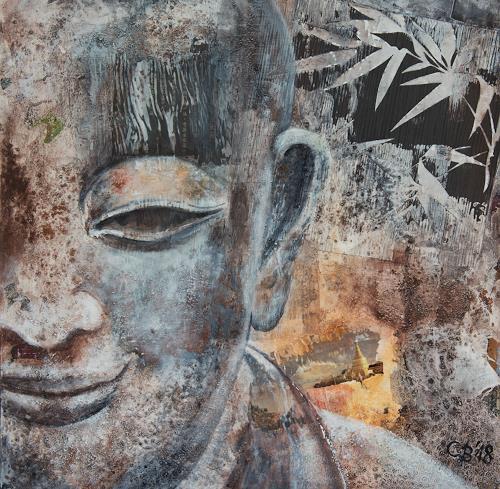Claudia Beck, Buddha, Monk, Glauben, Religion, expressiver Realismus