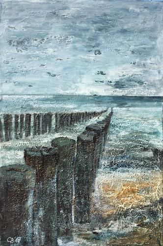 Claudia Beck, Domburg, Landschaft: See/Meer, expressiver Realismus, Expressionismus