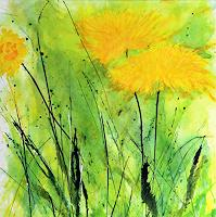 Marion-Schmidt-Pflanzen-Blumen-Abstraktes-Moderne-Abstrakte-Kunst-Action-Painting