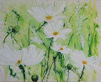 Marion-Schmidt-Pflanzen-Blumen-Landschaft-Fruehling-Moderne-Abstrakte-Kunst-Action-Painting