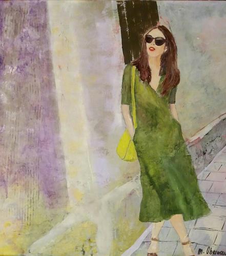 4be3485d8558bb Lady mit grünem Kleid