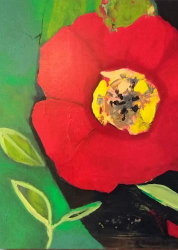 Margret Obernauer, rote Tulpe, Pflanzen: Blumen, Natur, Moderne, Expressionismus