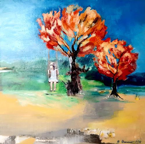 Margret Obernauer, Tanz, Menschen: Frau, Neue Figurative Malerei, Expressionismus