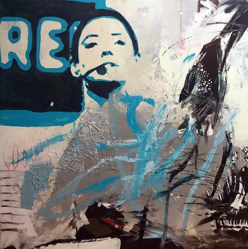 Margret Obernauer, Popart, Menschen: Gesichter, Abstraktes, Pop-Art, Abstrakter Expressionismus