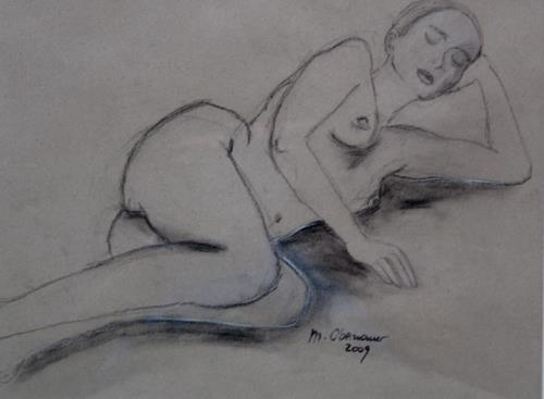 Margret Obernauer, weibl. Akt, Menschen: Frau, Akt/Erotik: Akt Frau, Neue Figurative Malerei