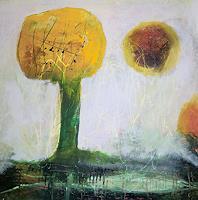 M. Obernauer, gelber Baum