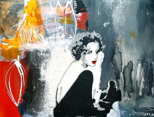Margret Obernauer, Die Diva, Menschen: Frau, Abstraktes, Abstrakte Kunst, Expressionismus