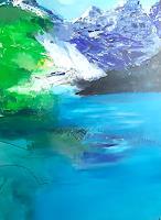 Margret-Obernauer-Landschaft-Berge-Natur-Wasser-Moderne-Impressionismus