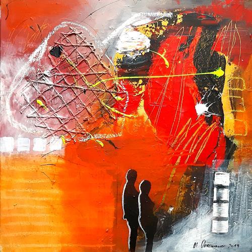 Margret Obernauer, Vernetzt, Abstraktes, Abstraktes, Abstrakte Kunst