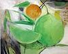 Margret Obernauer, O/T, Pflanzen: Früchte, Gegenwartskunst