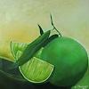 Margret Obernauer, O/T, Pflanzen: Früchte, Fotorealismus
