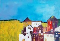 Margret-Obernauer-Landschaft-Bauten-Moderne-Impressionismus