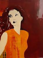 Margret-Obernauer-Menschen-Menschen-Frau-Moderne-expressiver-Realismus