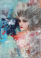 Margret-Obernauer-Menschen-Gesichter-Abstraktes-Moderne-Abstrakte-Kunst