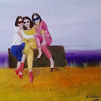 Margret-Obernauer-Menschen-Gruppe-Menschen-Frau-Moderne-Andere-Neue-Figurative-Malerei