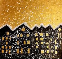 Margret-Obernauer-Bauten-Landschaft-Winter-Moderne-Naive-Kunst