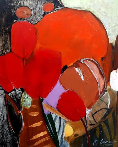 Margret Obernauer, Garden, Natur, Stilleben, Gegenwartskunst, Abstrakter Expressionismus