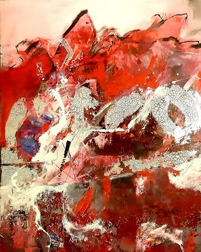 Margret Obernauer, Einohr Hase, Abstraktes, Gefühle, Abstrakte Kunst, Abstrakter Expressionismus