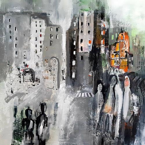 Margret Obernauer, Stadtbesucher, Gefühle: Freude, Abstraktes, Abstrakte Kunst, Abstrakter Expressionismus