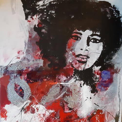 Margret Obernauer, Popart, Menschen: Gesichter, Abstraktes, Abstrakte Kunst