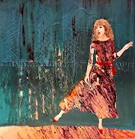 Margret-Obernauer-Menschen-Menschen-Frau-Moderne-Abstrakte-Kunst