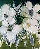 Margret Obernauer, Weisse Blumen