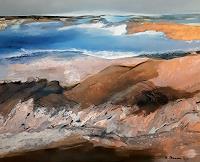 Margret-Obernauer-Landschaft-See-Meer-Natur-Gestein-Moderne-Expressionismus