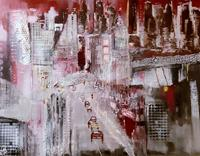 Margret-Obernauer-Landschaft-Bauten-Moderne-Expressionismus-Abstrakter-Expressionismus