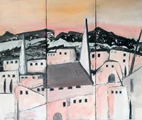 Margret-Obernauer-Landschaft-Bauten-Moderne-Expressionismus
