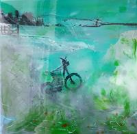 Margret-Obernauer-Landschaft-Ebene-Abstraktes-Moderne-Abstrakte-Kunst