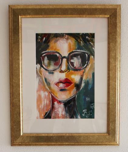 Sissi Brunner-Schützelhofer, Portrait Abstrakt, Menschen: Porträt, Informel