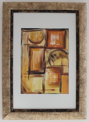 Sissi Brunner-Schützelhofer, Komposition I, Abstraktes, Action Painting