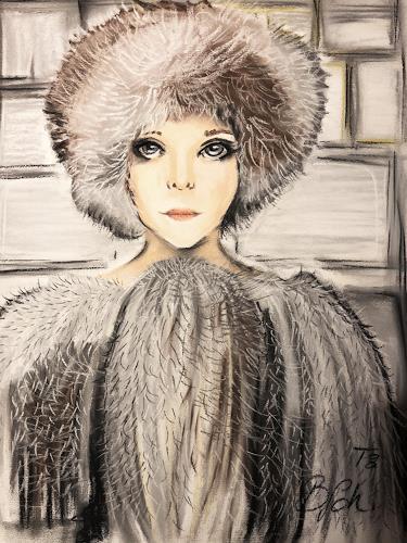 Sissi Brunner-Schützelhofer, Winter Mood, Menschen: Porträt, Menschen: Frau, Body Art, Expressionismus