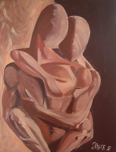 Sissi Brunner-Schützelhofer, Lovers, Menschen: Paare, Abstrakte Kunst, Expressionismus