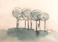 Sissi-Brunner-Schuetzelhofer-Diverse-Landschaften-Moderne-Abstrakte-Kunst