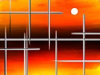 Keep-Magic-Abstraktes-Landschaft-See-Meer-Moderne-Abstrakte-Kunst