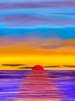 Keep-Magic-Landschaft-See-Meer-Abstraktes-Gegenwartskunst-Land-Art