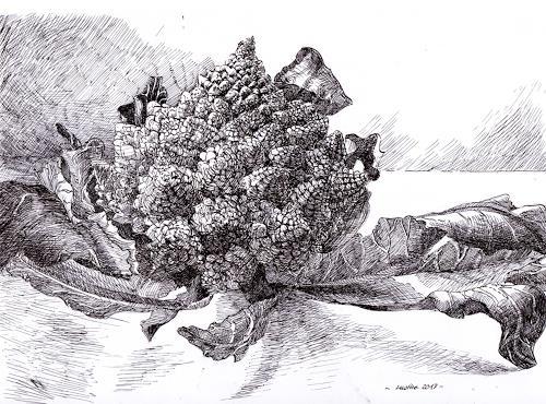 Susanne Thäsler-Wollenberg, Romanescu, Stilleben, Pflanzen: Früchte, expressiver Realismus, Abstrakter Expressionismus