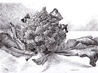 Susanne-Thaesler-Stilleben-Pflanzen-Fruechte-Moderne-expressiver-Realismus