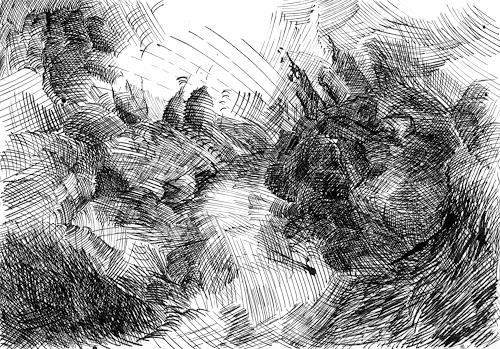Susanne Thäsler-Wollenberg, Apokalypse, Diverse Landschaften, Skurril, expressiver Realismus